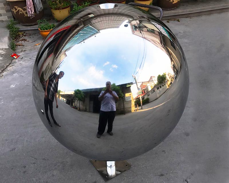 36 inch Stainless Steel Sphere Water Feature