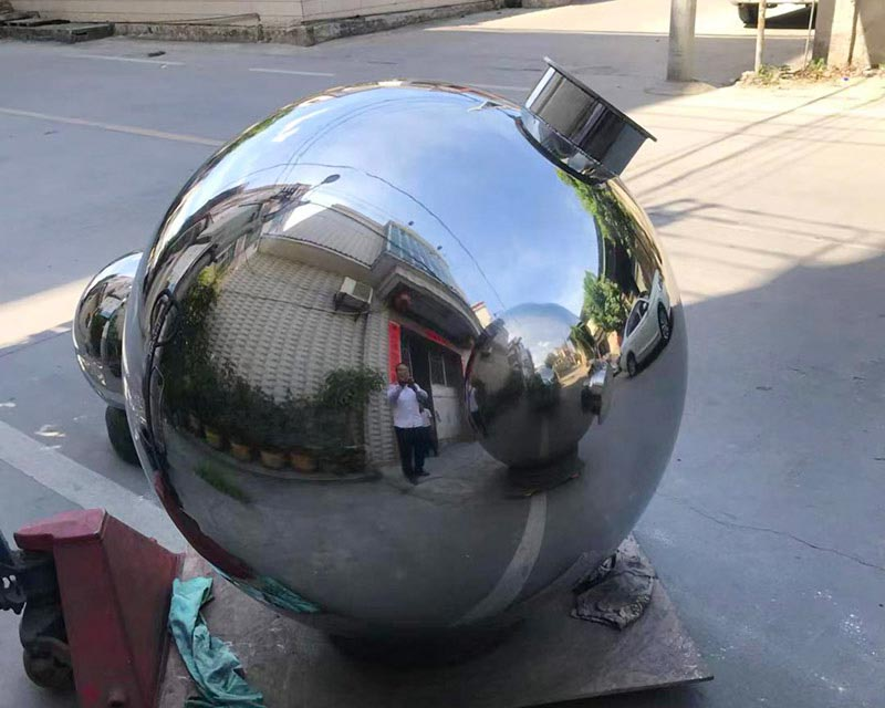 48 inch Stainless Steel Sphere on Post