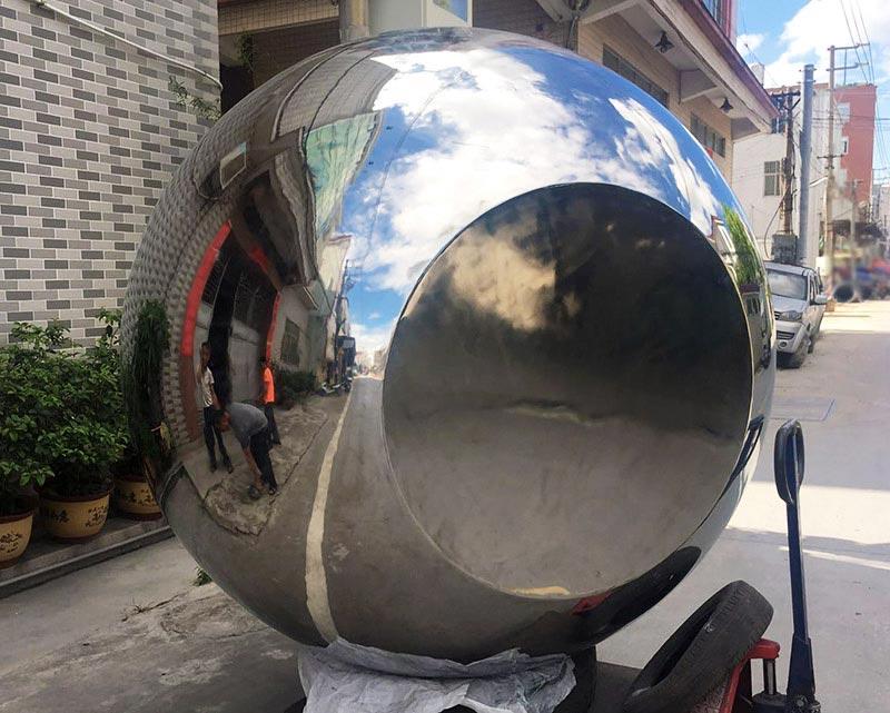 84 inch Stainless Steel Sphere Flat Bottom