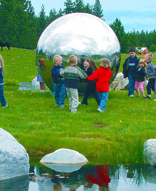6 Foot Giant Steel Sphere