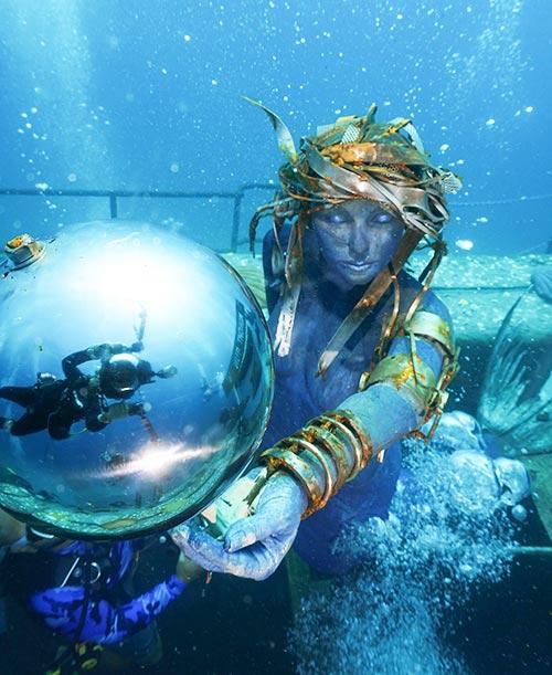 Gazing Ball Under Water