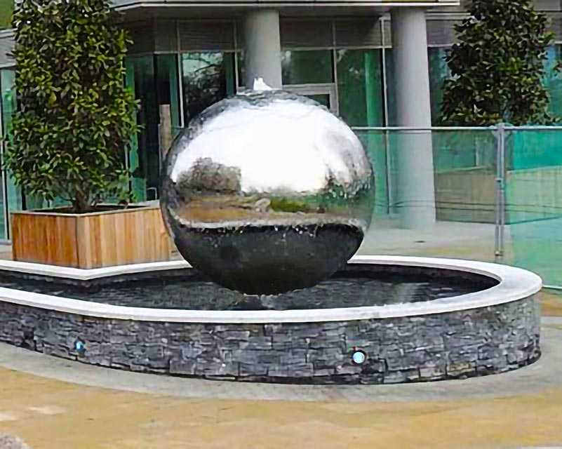 Stainless Steel Sphere Water Fountain