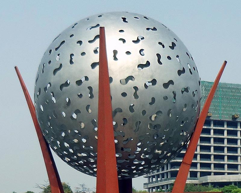 Stainless Steel Sphere Laser Cut Pattern