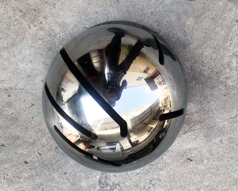 Laser Cut Slots in Sphere for Interactive Museum Exhibit