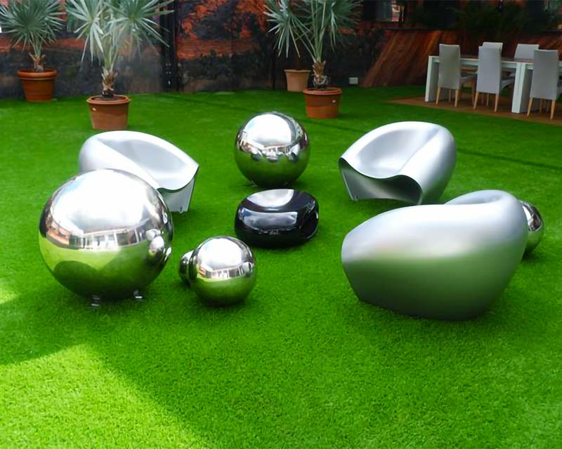 Stainless Steel Garden Seating Sculptures