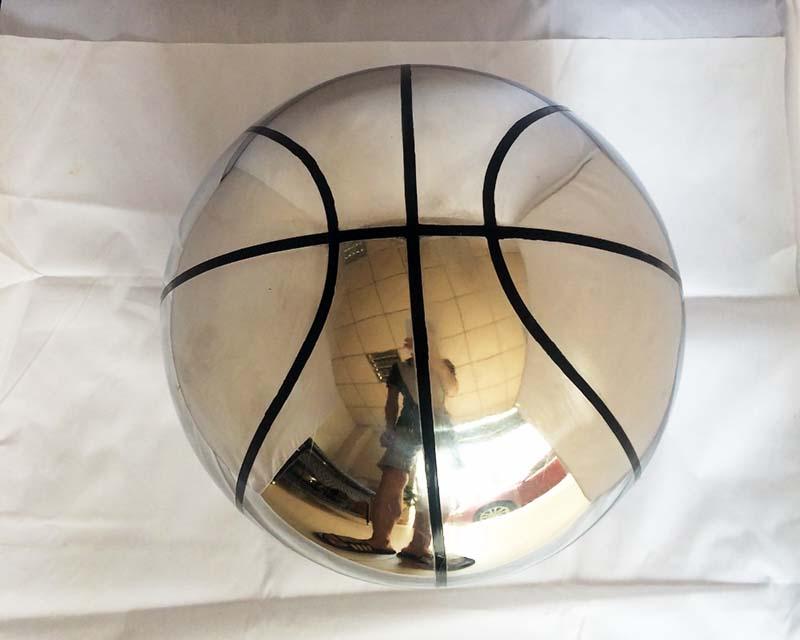 Stainless Steel Sphere w/ Basketball Pattern