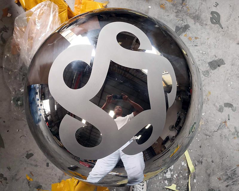 36 Inch Stainless Ball Etched Logo