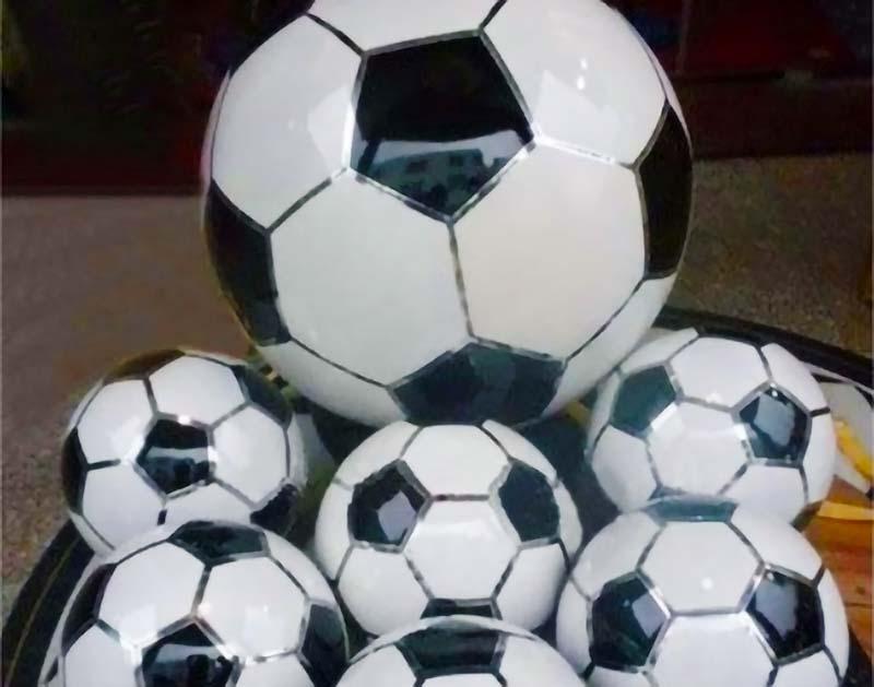 Stainless Steel Sphere w/ Soccer Ball Pattern