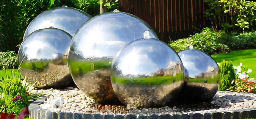 Stainless Steel Sphere Water Fountains