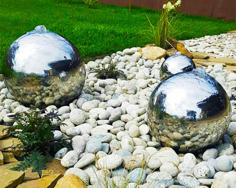 Sphere Water Features in Residential Landscaping