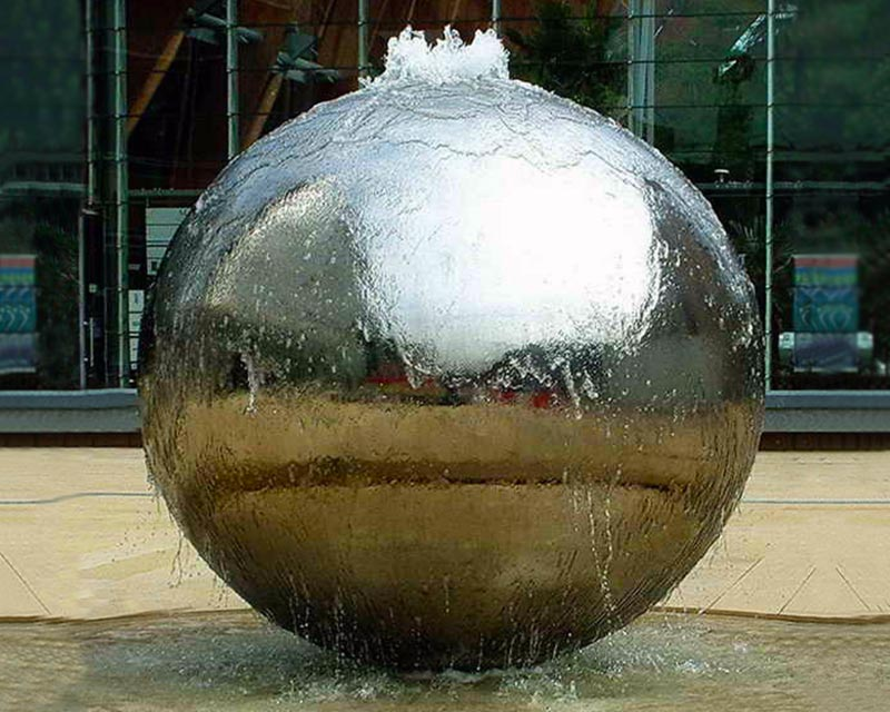 Large Steel Sphere Water Feature