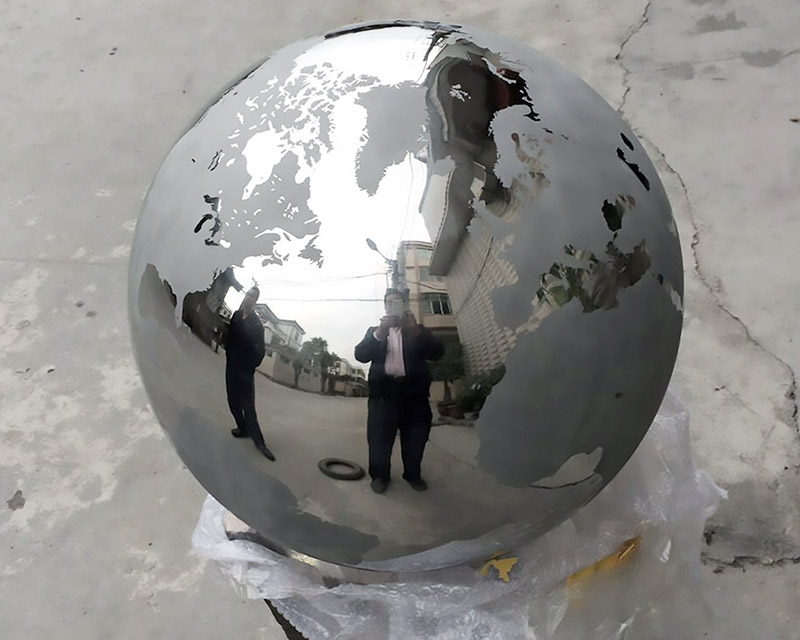 Stainless Steel Sphere World Continents