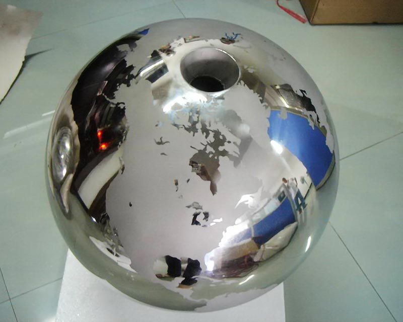 Stainless Steel World Globe Water Feature